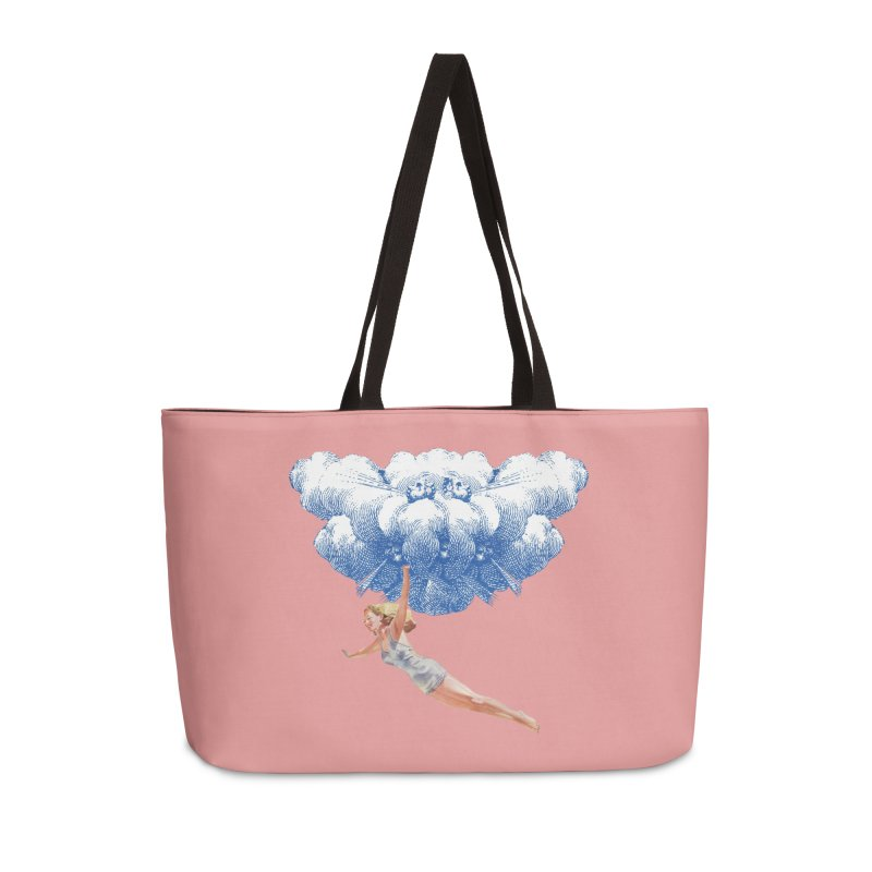 Flying Girl Accessories Weekender Bag Bag by TeeGoo's Shop