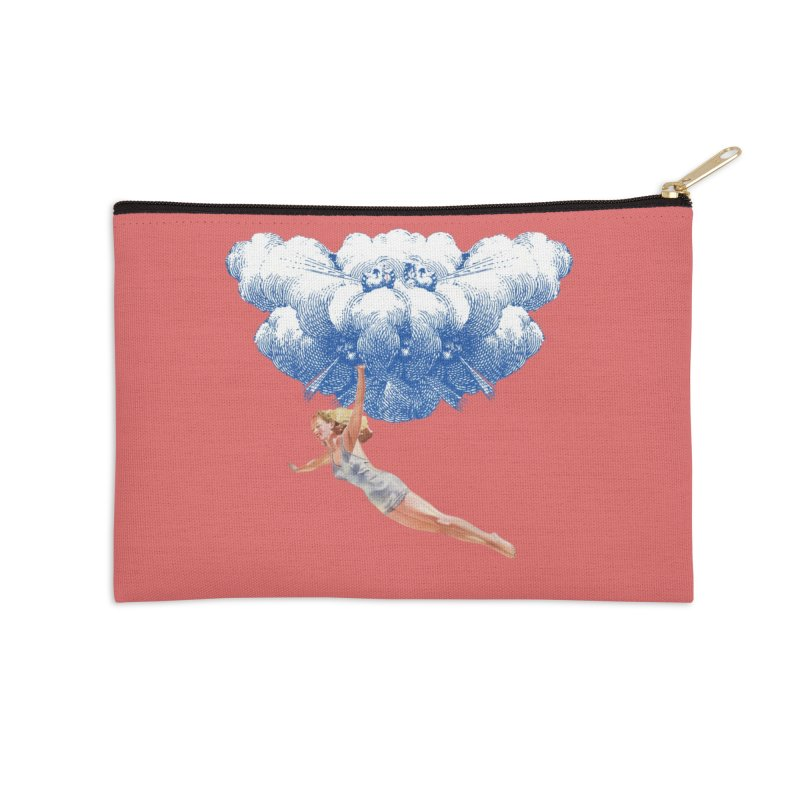 Flying Girl Accessories Zip Pouch by TeeGoo's Shop
