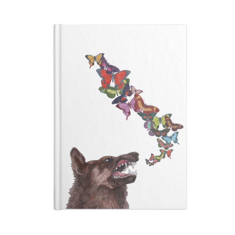 Wolfie Accessories Lined Journal Notebook by TeeGoo's Shop