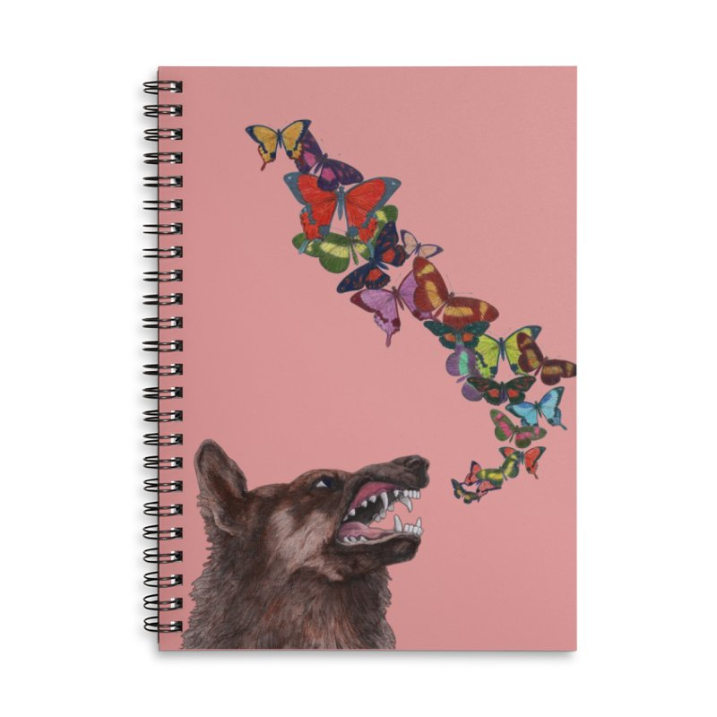 Wolfie Accessories Lined Spiral Notebook by TeeGoo's Shop