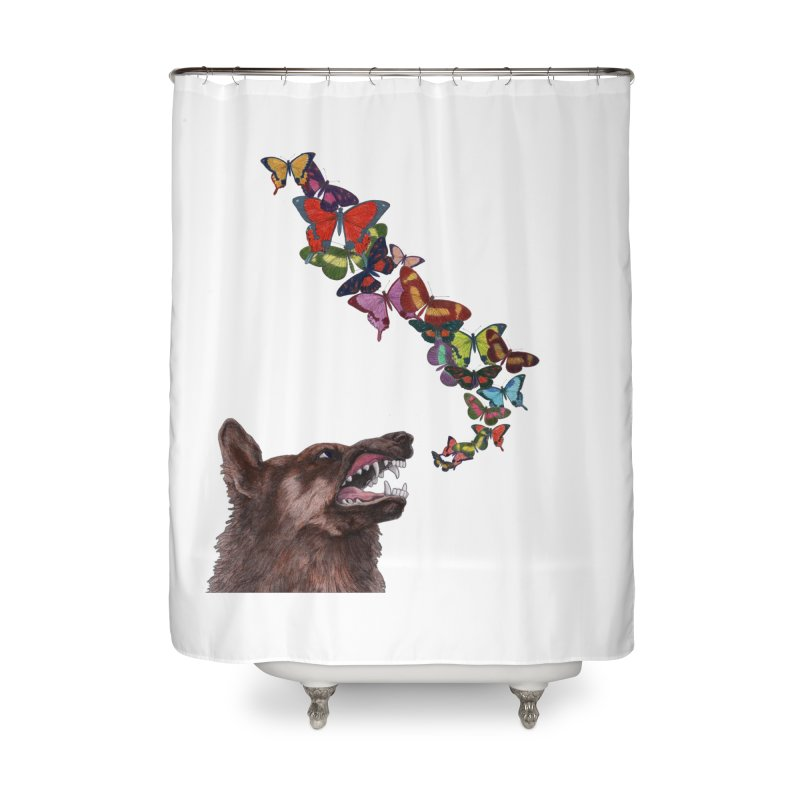 Wolfie Home Shower Curtain by TeeGoo's Shop
