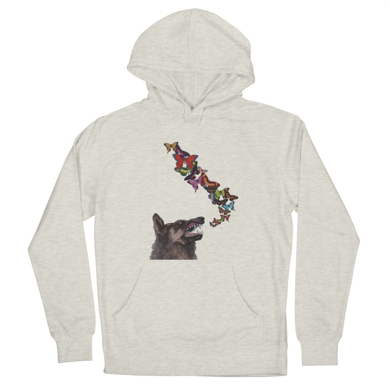 Wolfie in Women's French Terry Pullover Hoody Heather Oatmeal by TeeGoo's Shop