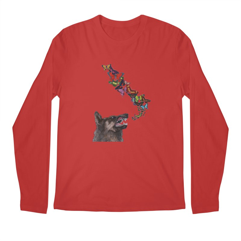 Wolfie Men's Regular Longsleeve T-Shirt by TeeGoo's Shop