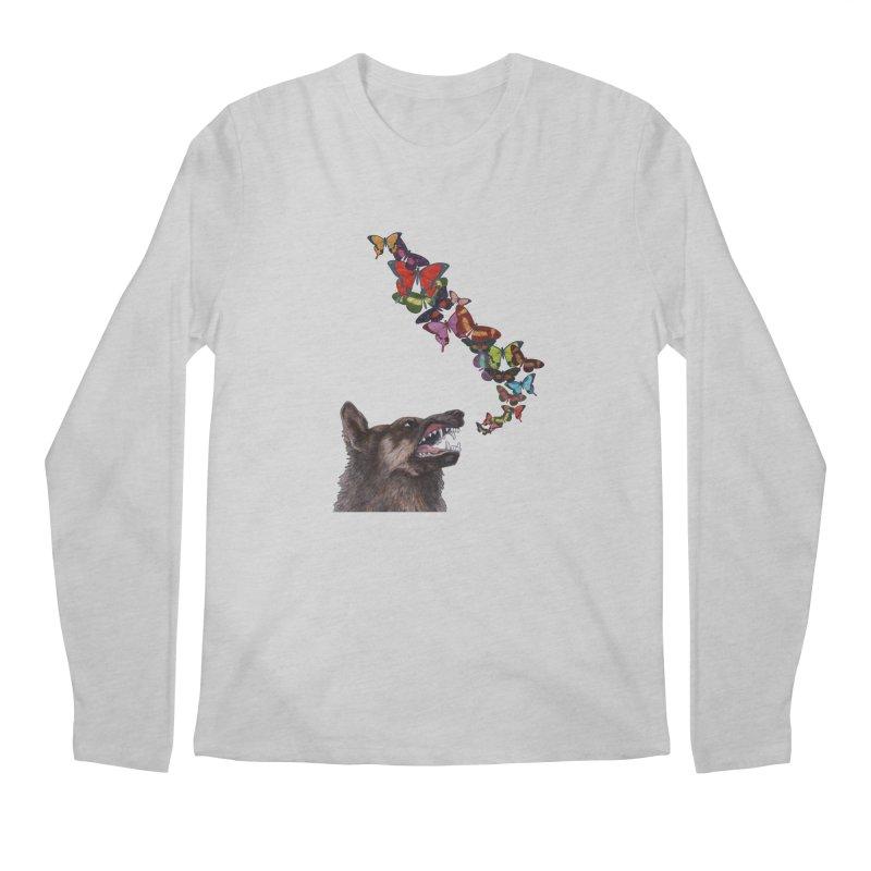 Wolfie Men's Regular Longsleeve T-Shirt by TeeGoo's Shop