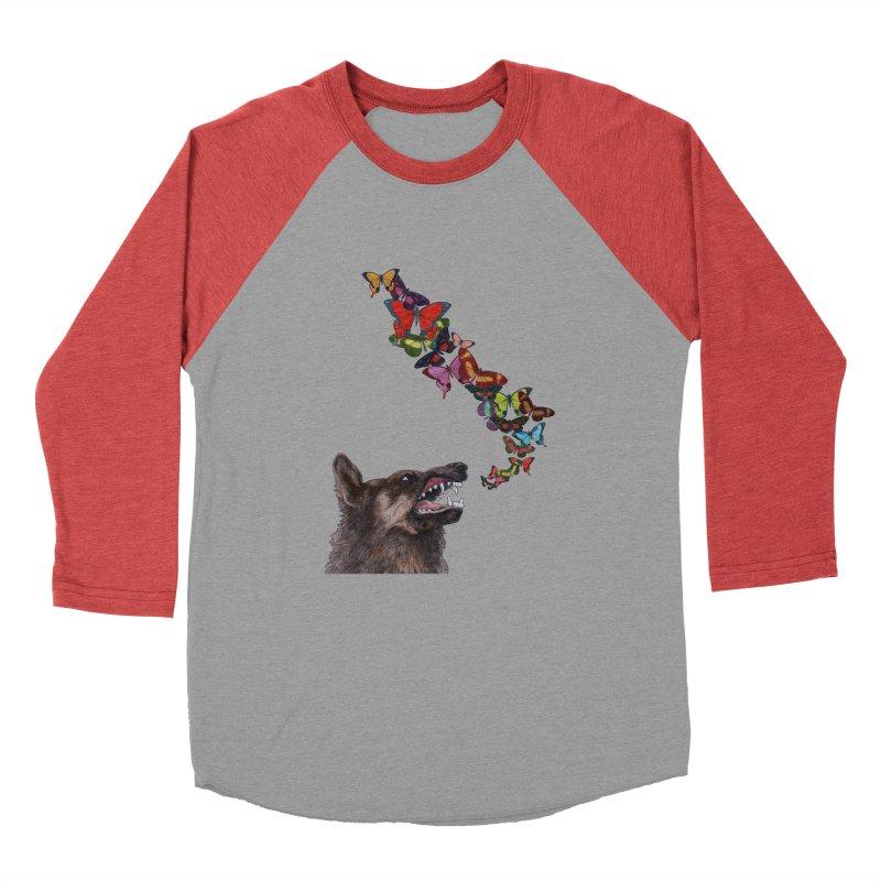 Wolfie Men's Baseball Triblend Longsleeve T-Shirt by TeeGoo's Shop