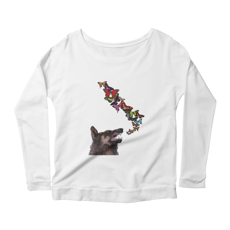 Wolfie Women's Scoop Neck Longsleeve T-Shirt by TeeGoo's Shop