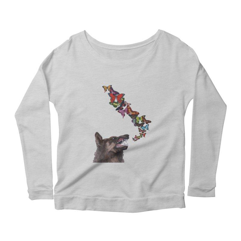Wolfie Women's Scoop Neck Longsleeve T-Shirt by TeeGoo's Shop