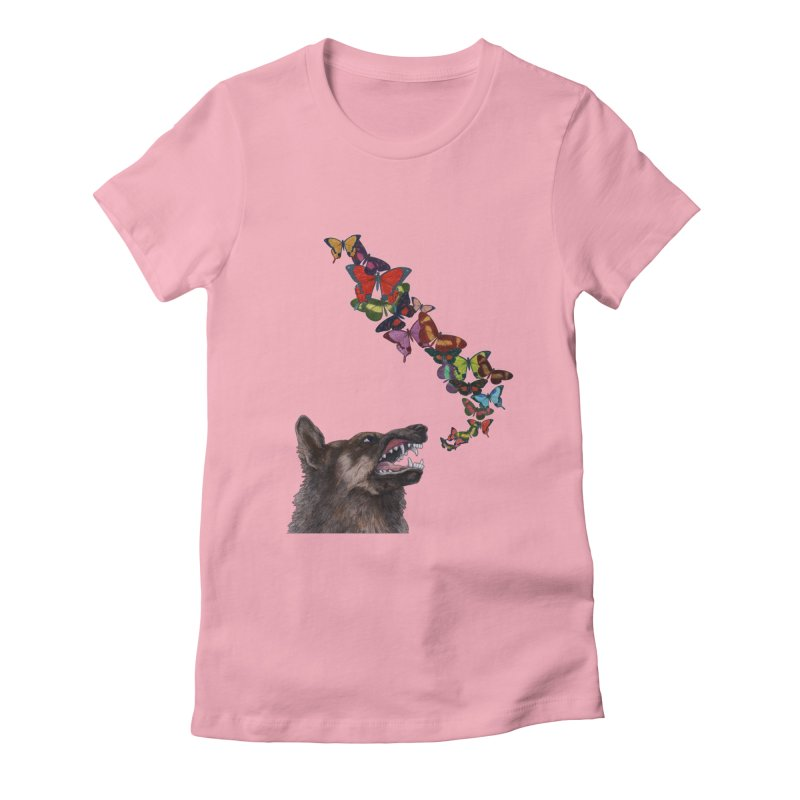 Wolfie Women's Fitted T-Shirt by TeeGoo's Shop