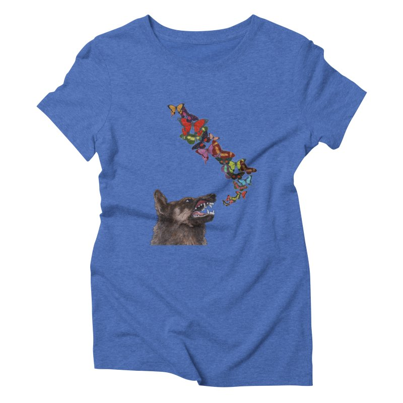 Wolfie Women's Triblend T-Shirt by TeeGoo's Shop