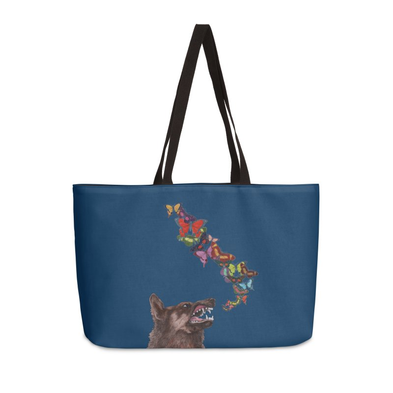 Wolfie Accessories Weekender Bag Bag by TeeGoo's Shop