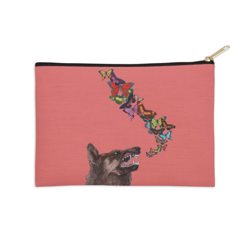 Wolfie Accessories Zip Pouch by TeeGoo's Shop