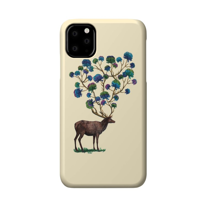 DeerFlowerAntlers Accessories Phone Case by TeeGoo's Shop