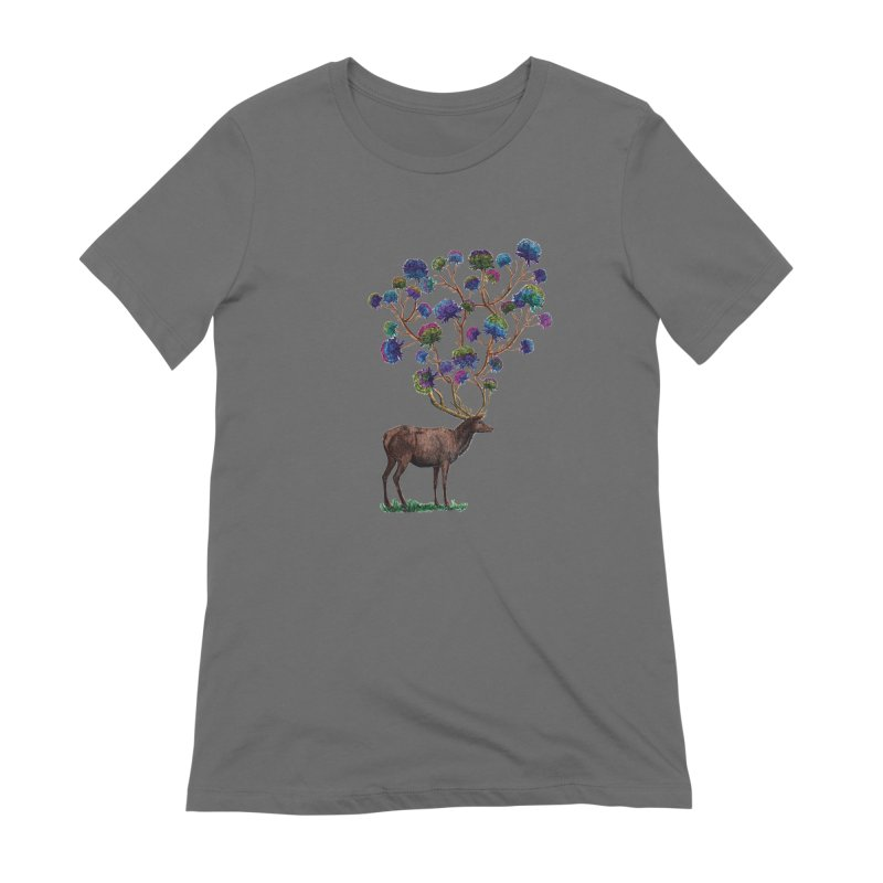DeerFlowerAntlers Women's T-Shirt by TeeGoo's Shop
