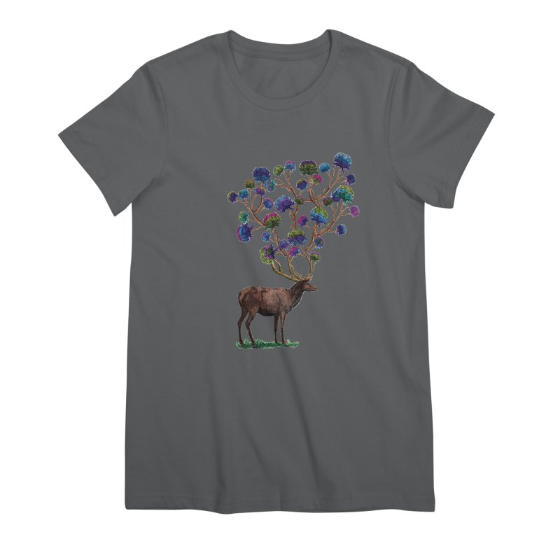 DeerFlowerAntlers Women's Premium T-Shirt by TeeGoo's Shop