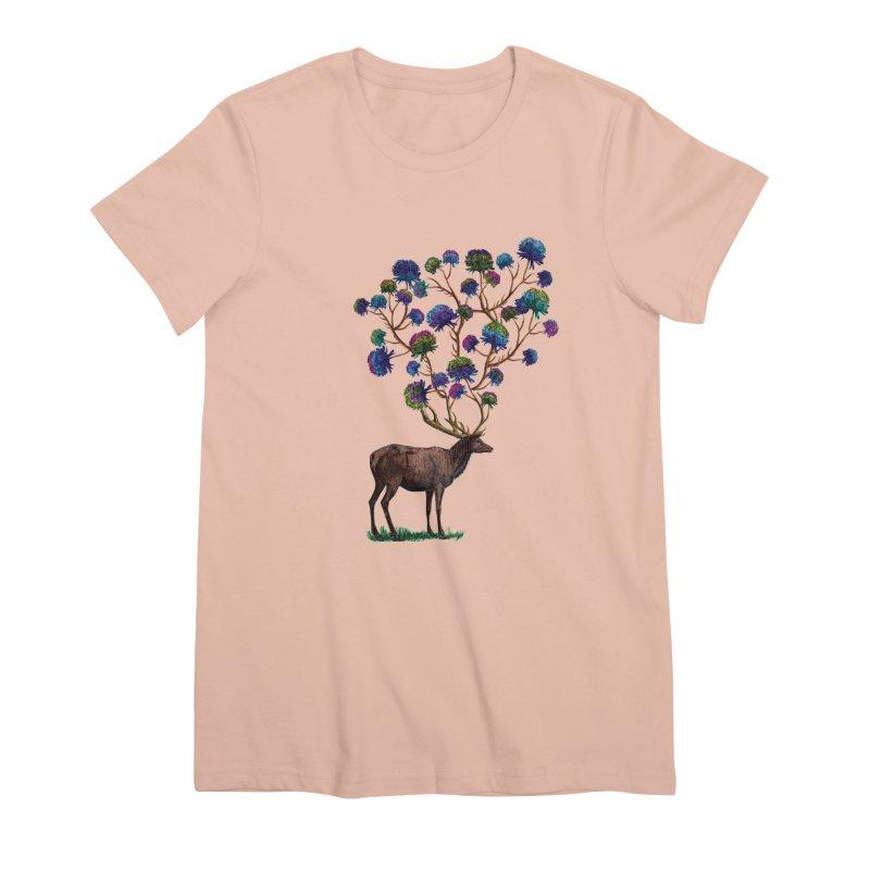 DeerFlowerAntlers Women's Premium T-Shirt by TeeGoo's Shop