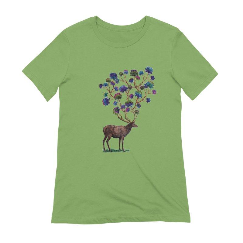 DeerFlowerAntlers Women's Extra Soft T-Shirt by TeeGoo's Shop