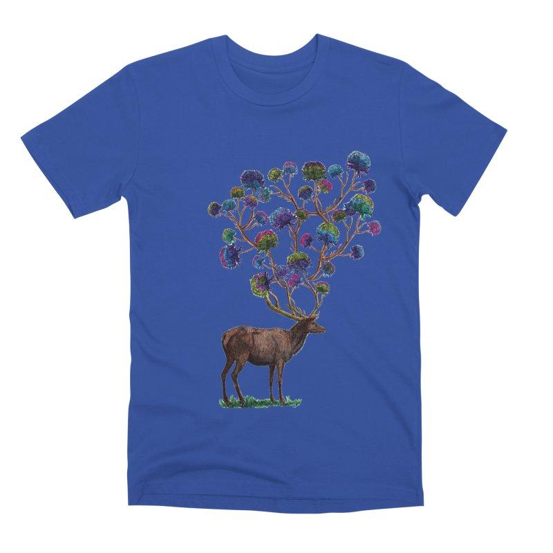 DeerFlowerAntlers Men's Premium T-Shirt by TeeGoo's Shop