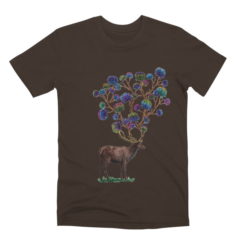 DeerFlowerAntlers Men's Premium T-Shirt by TeeGoo's Shop