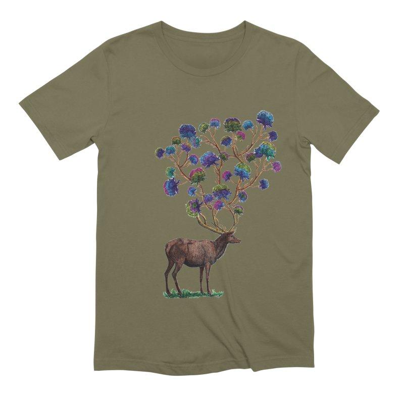 DeerFlowerAntlers Men's Extra Soft T-Shirt by TeeGoo's Shop