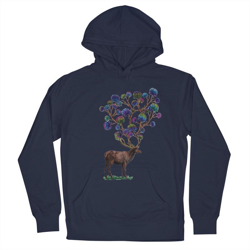 DeerFlowerAntlers Men's Pullover Hoody by TeeGoo's Shop