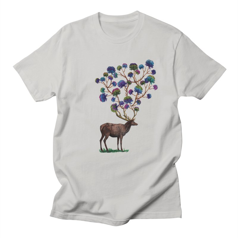 DeerFlowerAntlers Men's T-Shirt by TeeGoo's Shop