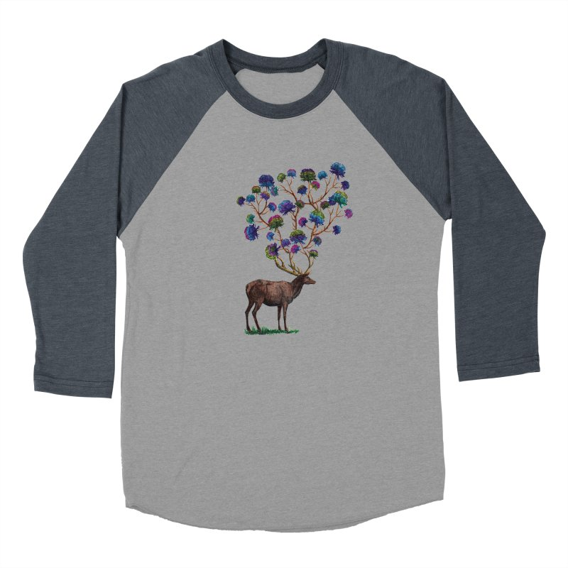 DeerFlowerAntlers Men's Baseball Triblend Longsleeve T-Shirt by TeeGoo's Shop