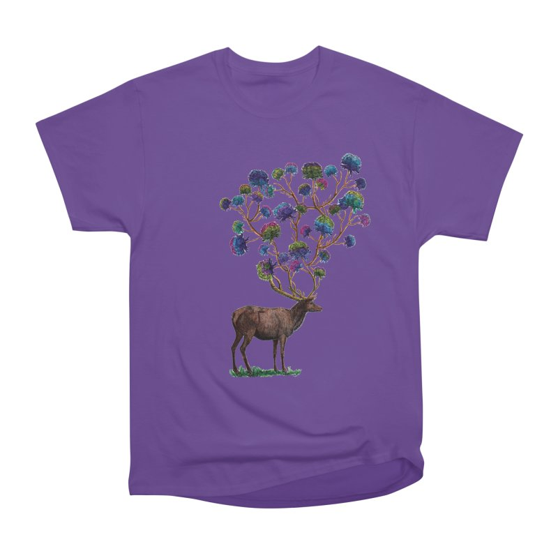 DeerFlowerAntlers Women's Heavyweight Unisex T-Shirt by TeeGoo's Shop
