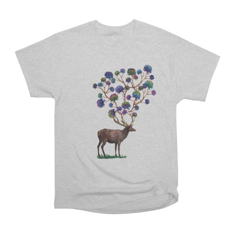 DeerFlowerAntlers Men's Heavyweight T-Shirt by TeeGoo's Shop