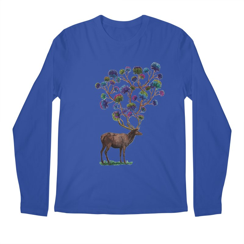 DeerFlowerAntlers Men's Regular Longsleeve T-Shirt by TeeGoo's Shop