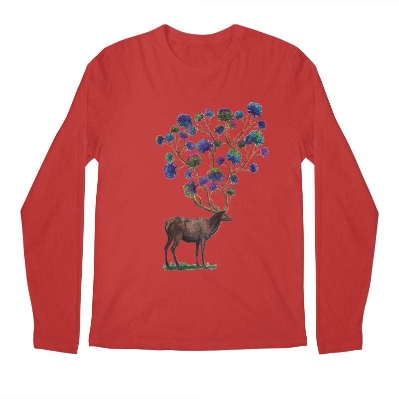 DeerFlowerAntlers Men's Regular Longsleeve T-Shirt by TeeGoo's Shop