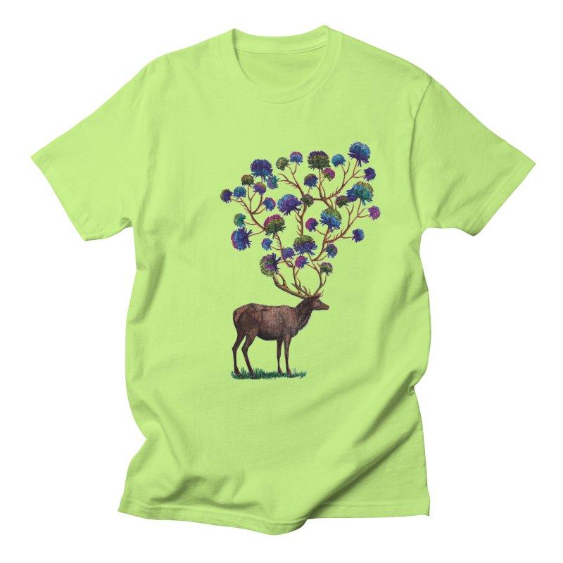 DeerFlowerAntlers Women's Regular Unisex T-Shirt by TeeGoo's Shop