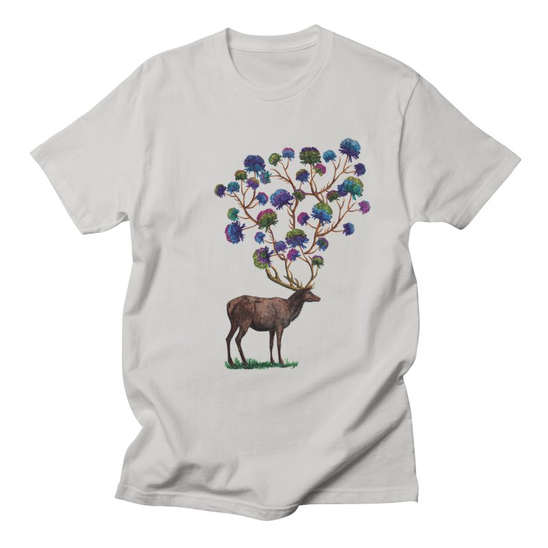 DeerFlowerAntlers Men's Regular T-Shirt by TeeGoo's Shop