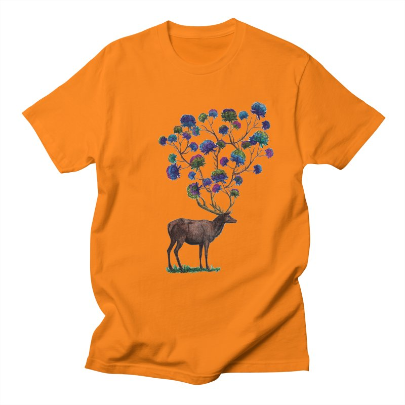 DeerFlowerAntlers Women's Regular Unisex T-Shirt by TeeGoo's Shop