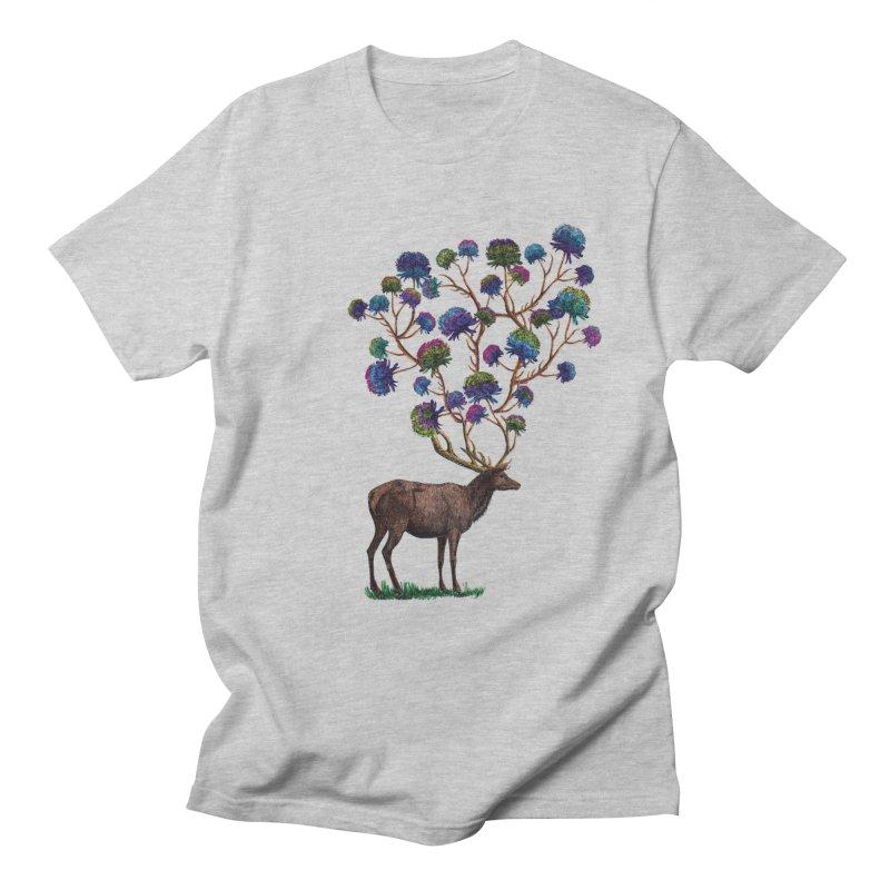 DeerFlowerAntlers Men's Regular T-Shirt by TeeGoo's Shop
