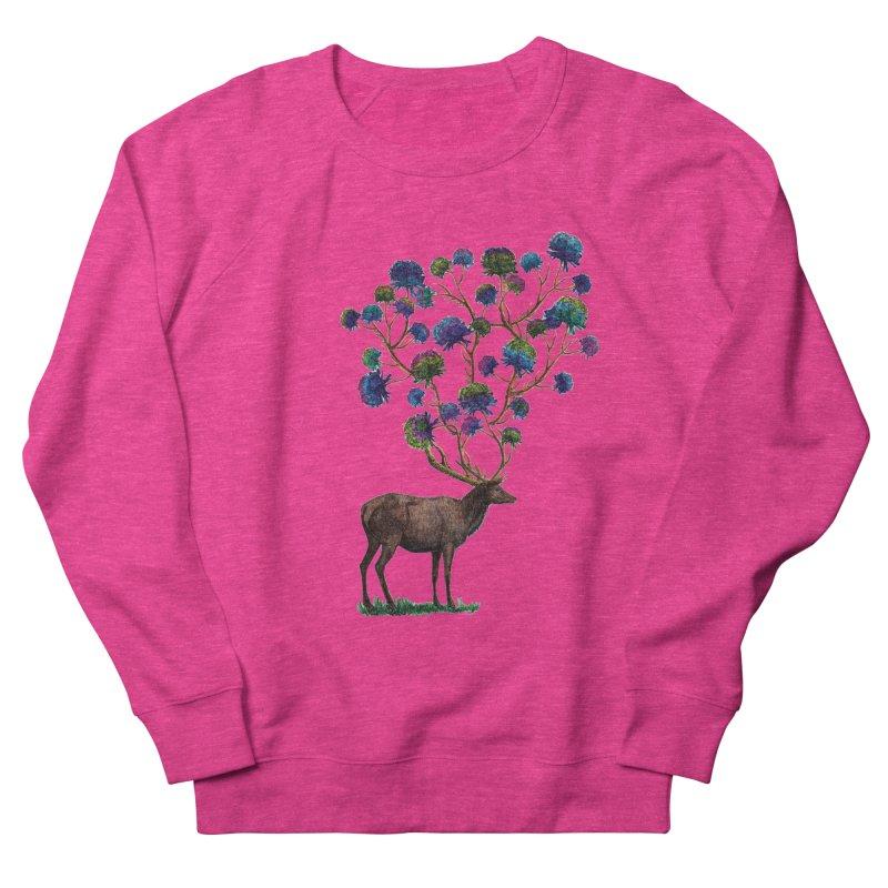 DeerFlowerAntlers Women's French Terry Sweatshirt by TeeGoo's Shop