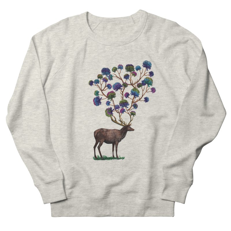DeerFlowerAntlers Women's French Terry Sweatshirt by TeeGoo's Shop