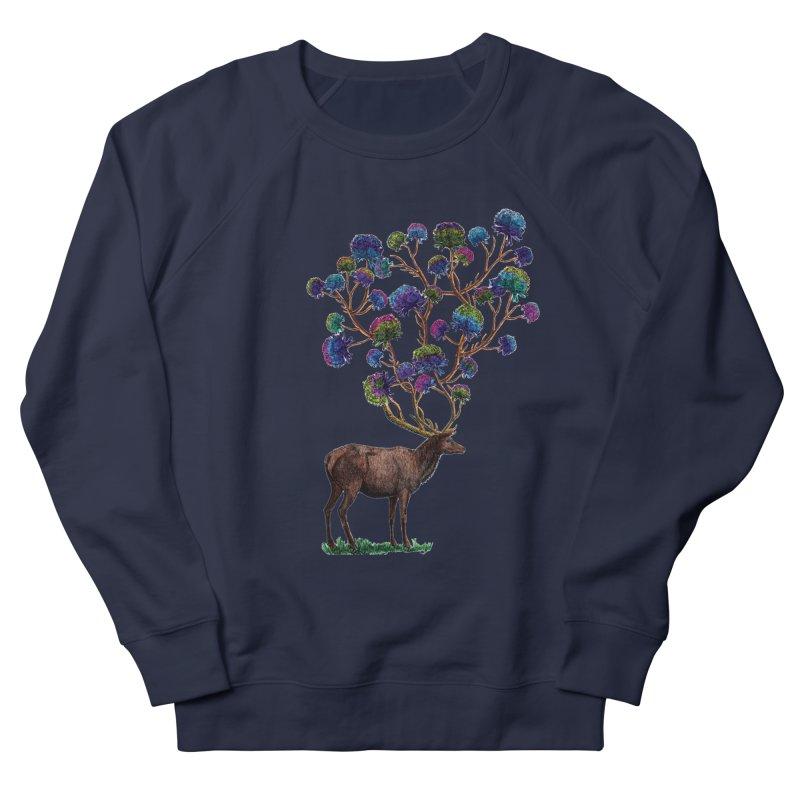 DeerFlowerAntlers Men's French Terry Sweatshirt by TeeGoo's Shop