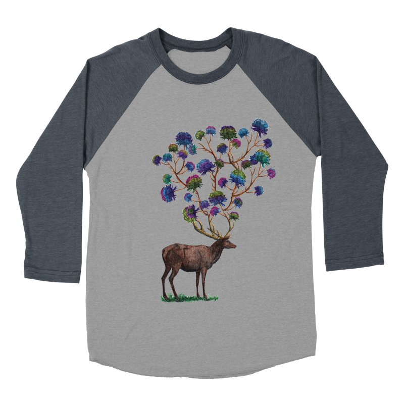 DeerFlowerAntlers Women's Baseball Triblend Longsleeve T-Shirt by TeeGoo's Shop