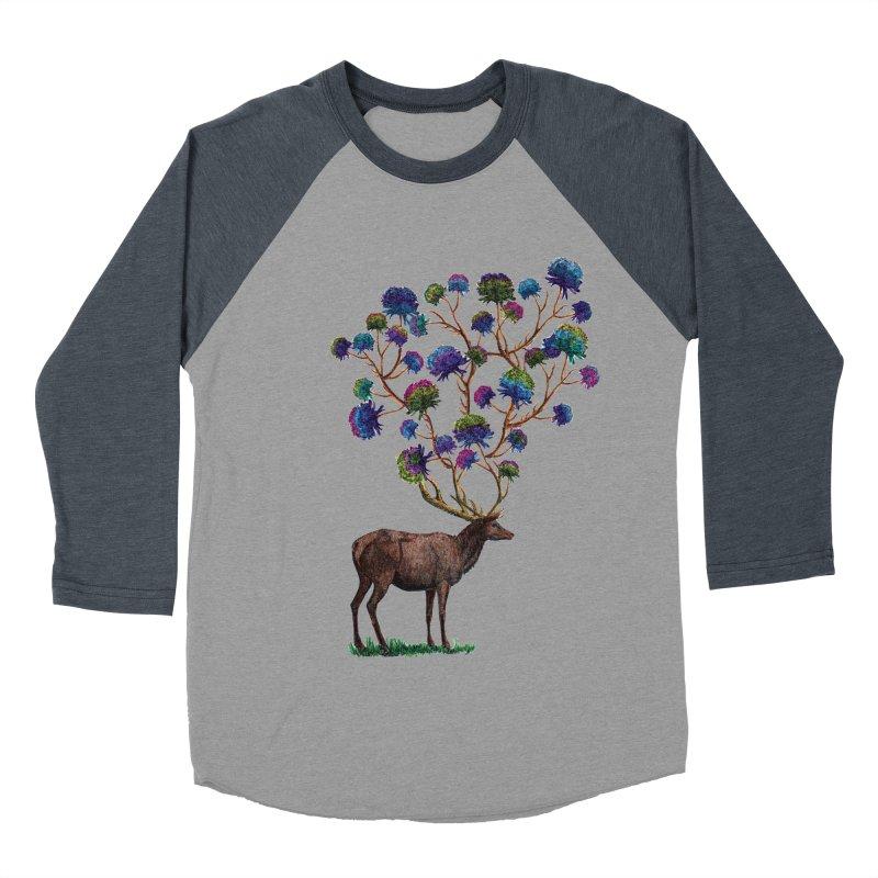 DeerFlowerAntlers Men's Baseball Triblend Longsleeve T-Shirt by TeeGoo's Shop