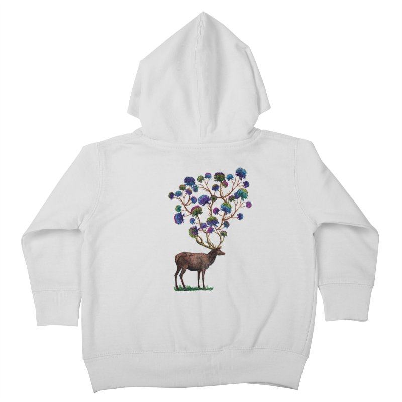 DeerFlowerAntlers Kids Toddler Zip-Up Hoody by TeeGoo's Shop