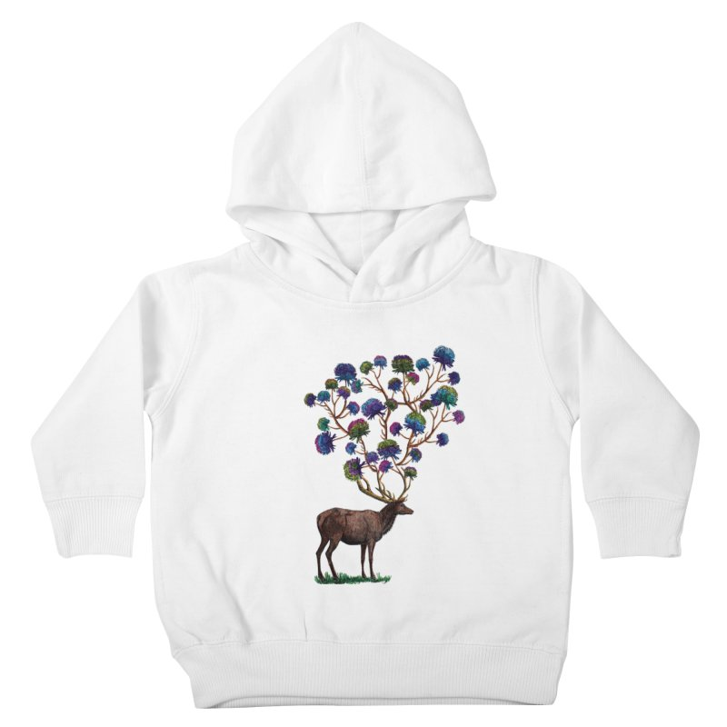 DeerFlowerAntlers Kids Toddler Pullover Hoody by TeeGoo's Shop