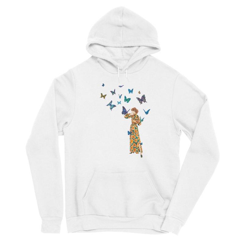 Butterfly Lady Men's Pullover Hoody by TeeGoo's Shop