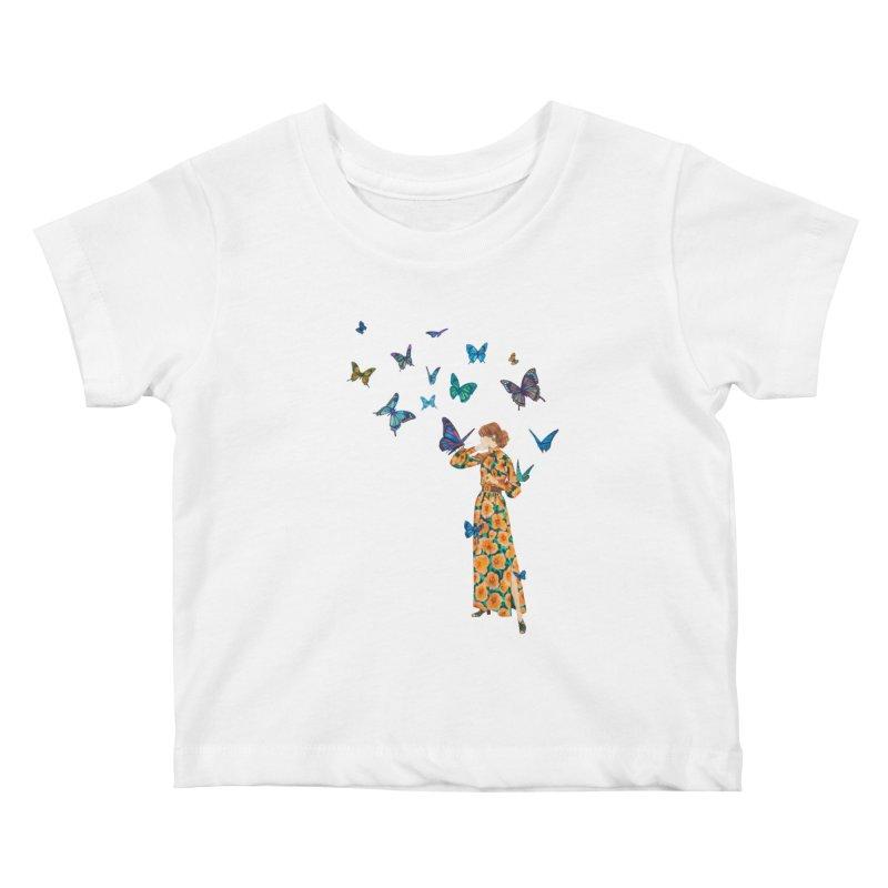 Butterfly Lady Kids Baby T-Shirt by TeeGoo's Shop