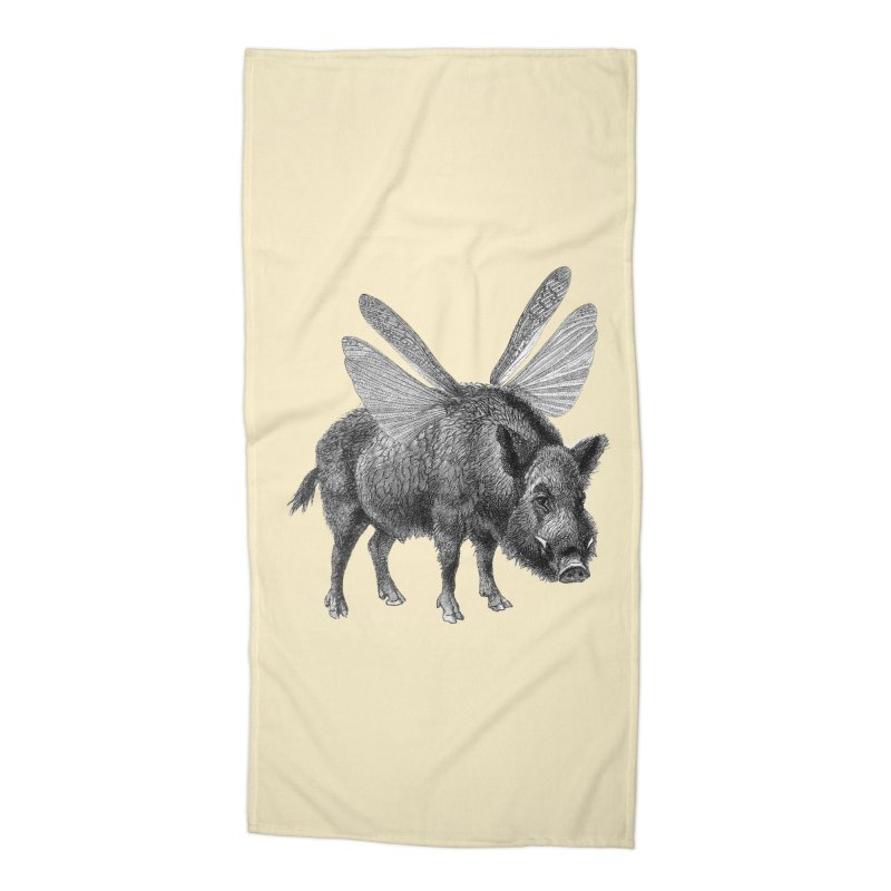 When Pigs Fly Accessories Beach Towel by TeeGoo's Shop