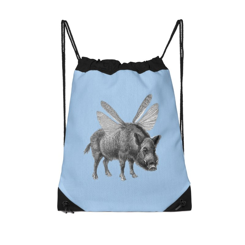 When Pigs Fly Accessories Drawstring Bag Bag by TeeGoo's Shop