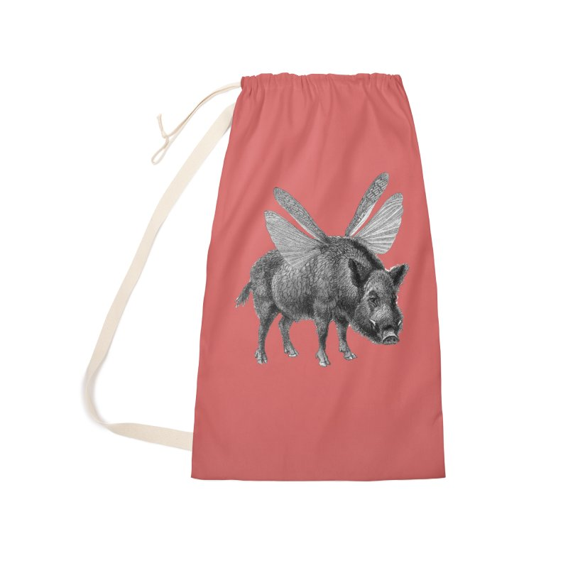 When Pigs Fly Accessories Laundry Bag Bag by TeeGoo's Shop