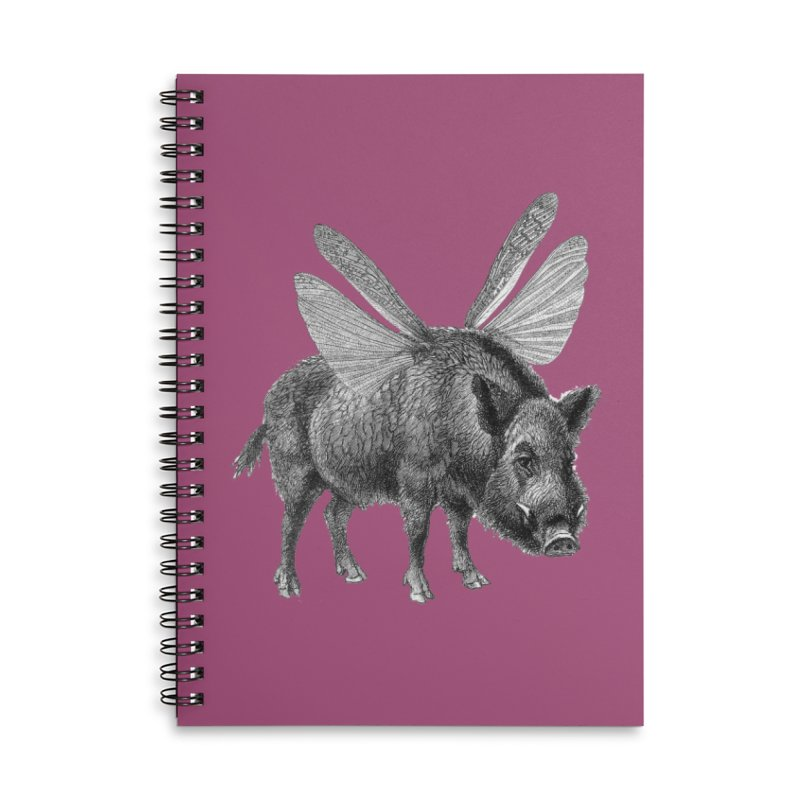 When Pigs Fly Accessories Lined Spiral Notebook by TeeGoo's Shop