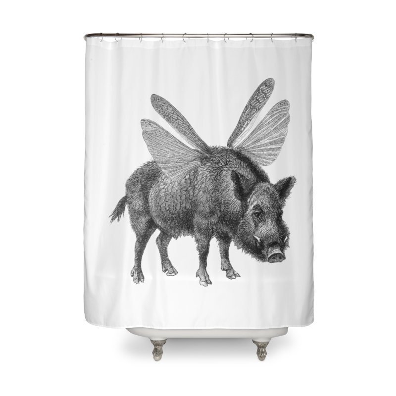 When Pigs Fly Home Shower Curtain by TeeGoo's Shop