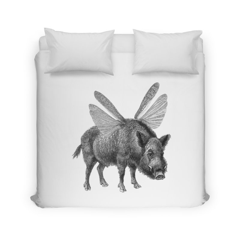 When Pigs Fly Home Duvet by TeeGoo's Shop