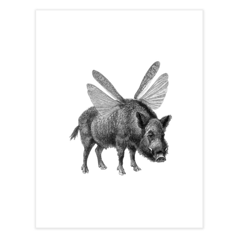When Pigs Fly Home Fine Art Print by TeeGoo's Shop